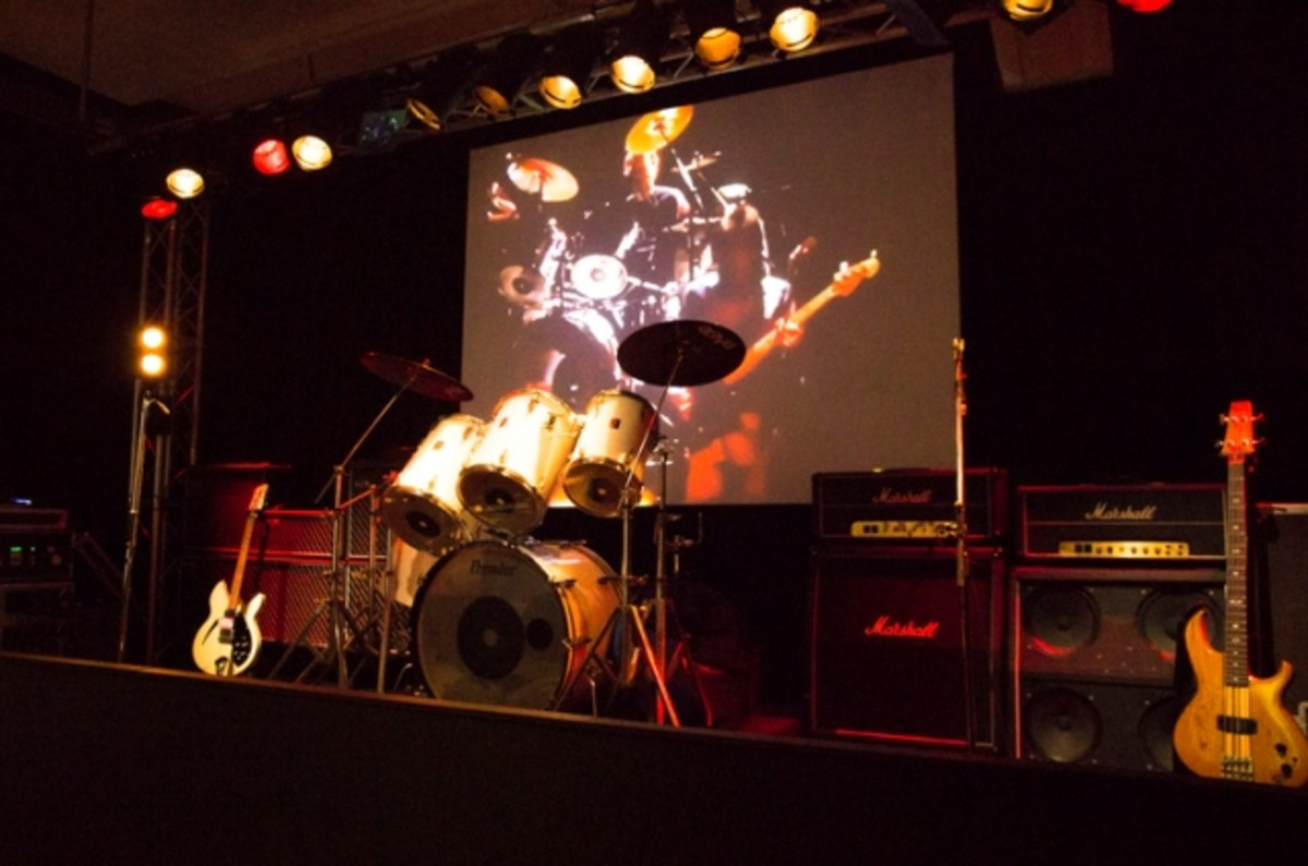 The Jam's stage set up, which is displayed at the exhibition, is pictured here. (Photo by Dean Fardell for Nicetime Productions)