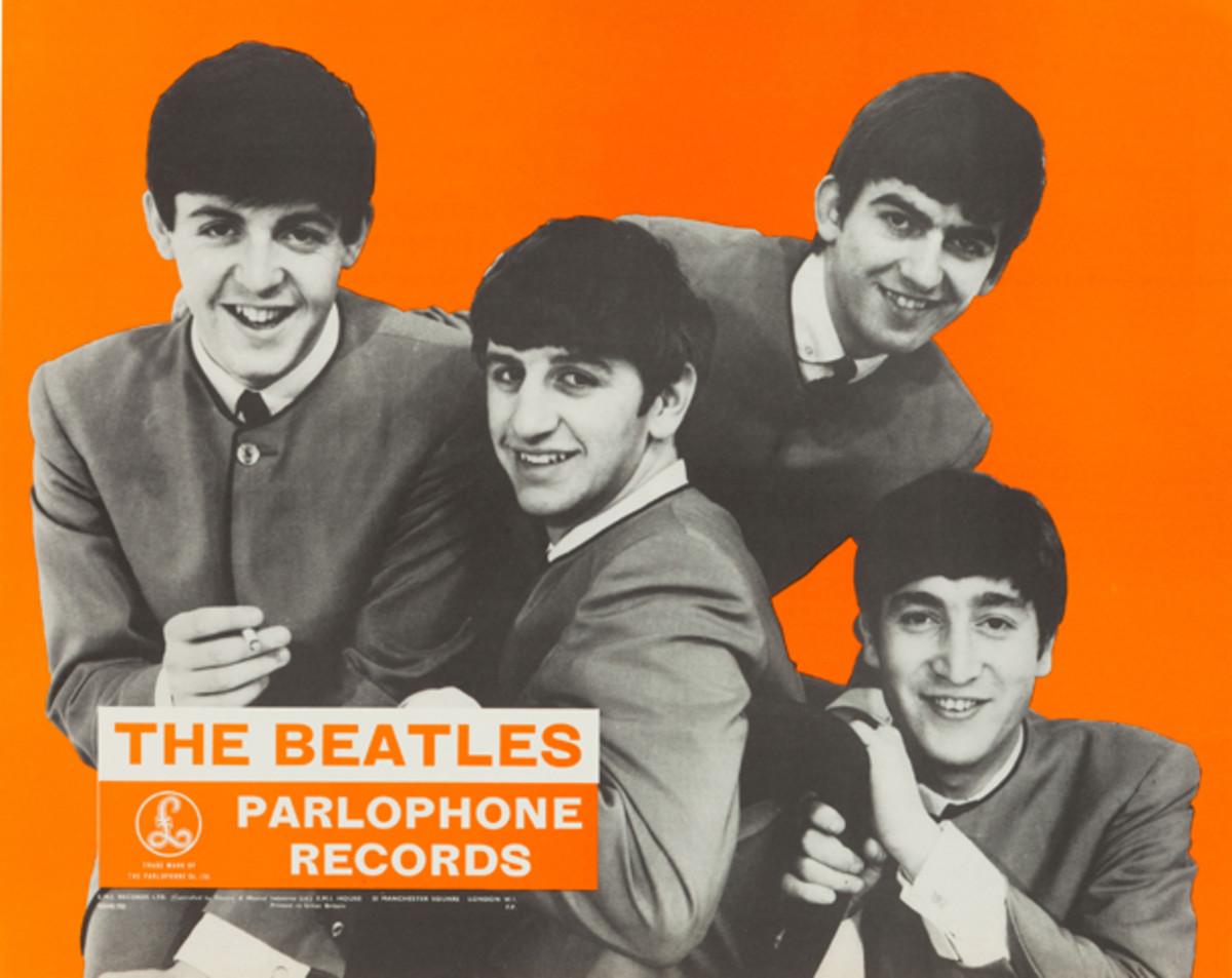 Beatles Parlophone promo poster