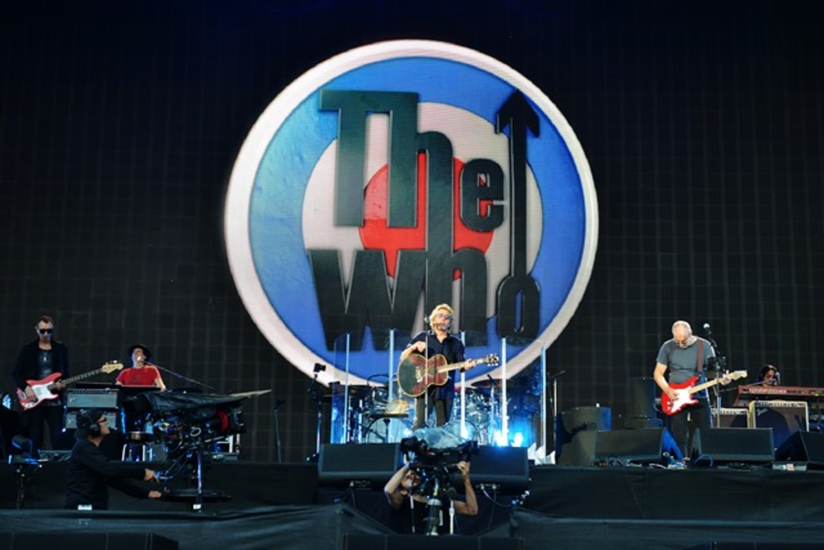 The Who's new concert film, The Who In Hyde Park, was filmed in June in London and was screened in over 360 theaters throughout the United States on Thursday, October 8th. (Photo by Fabrice Demessence)