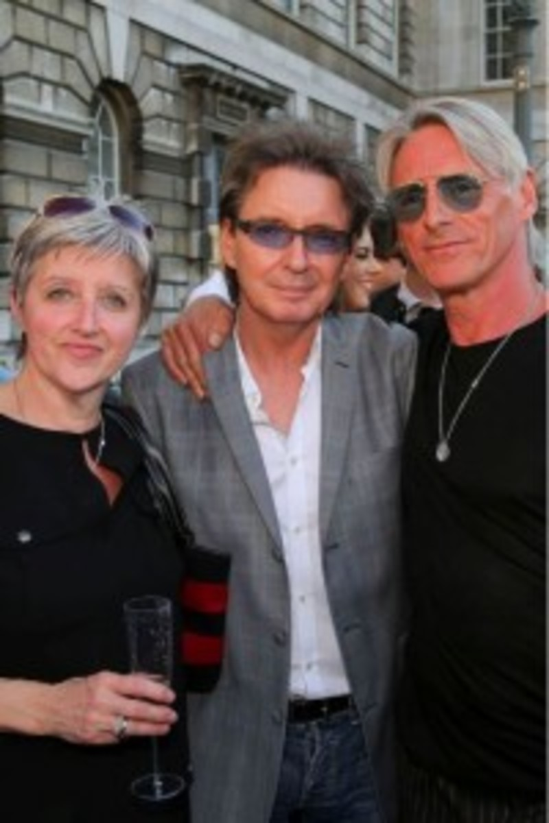 Nicky Weller, pictured at left with The Jam's Bruce Foxton (center) and Paul Weller (right), is one of the co-curators of The Jam: About The Young Idea, an exhibition on the band that is currently on at Somerset House in London. (Photo by Dean Fardell for Nicetime Productions)