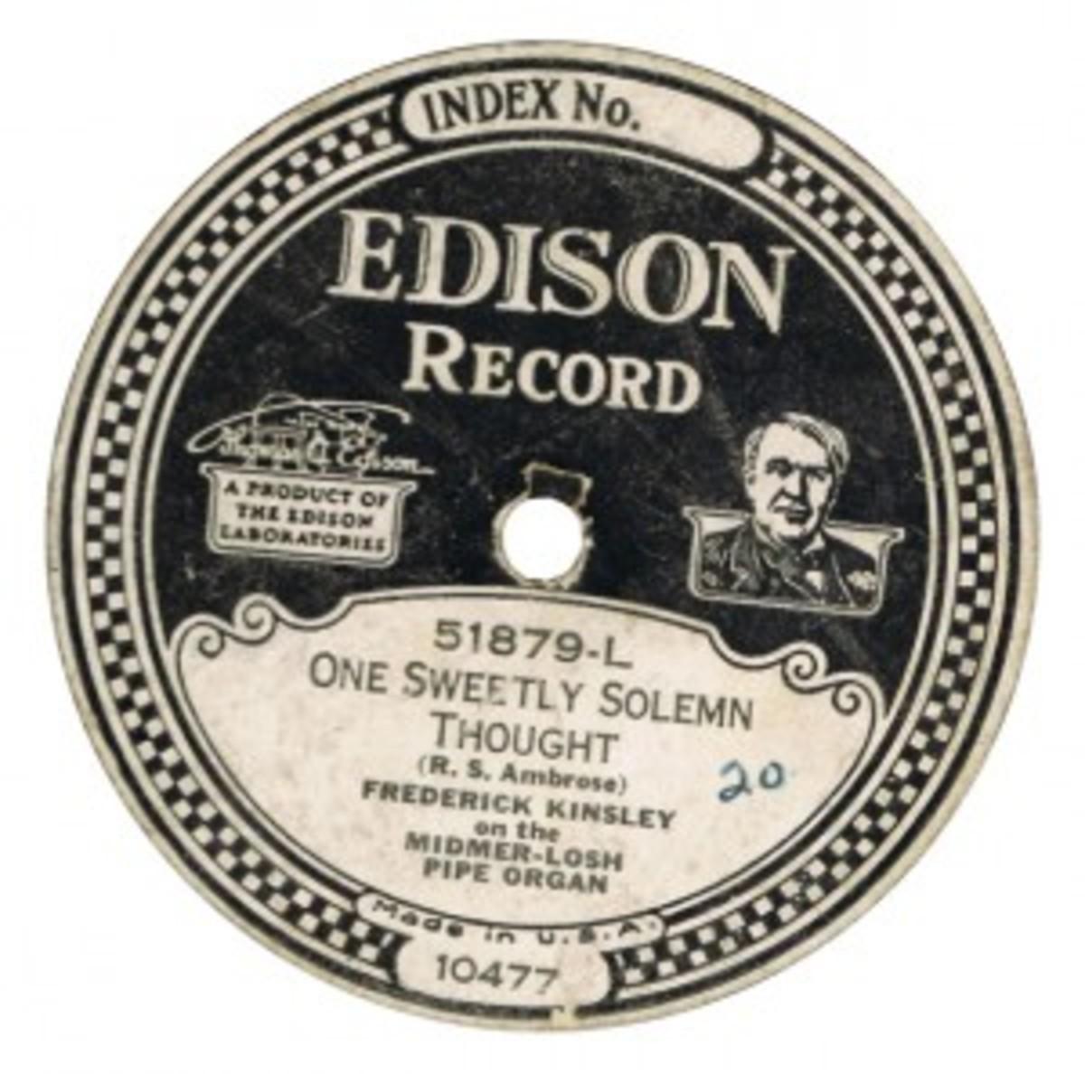 Edison record, frederick kinsley,