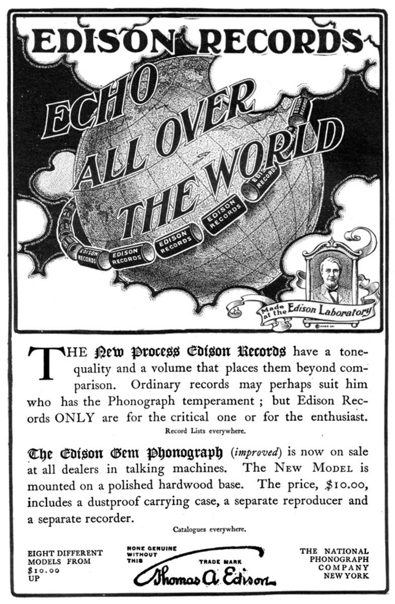 Edison Records advertising