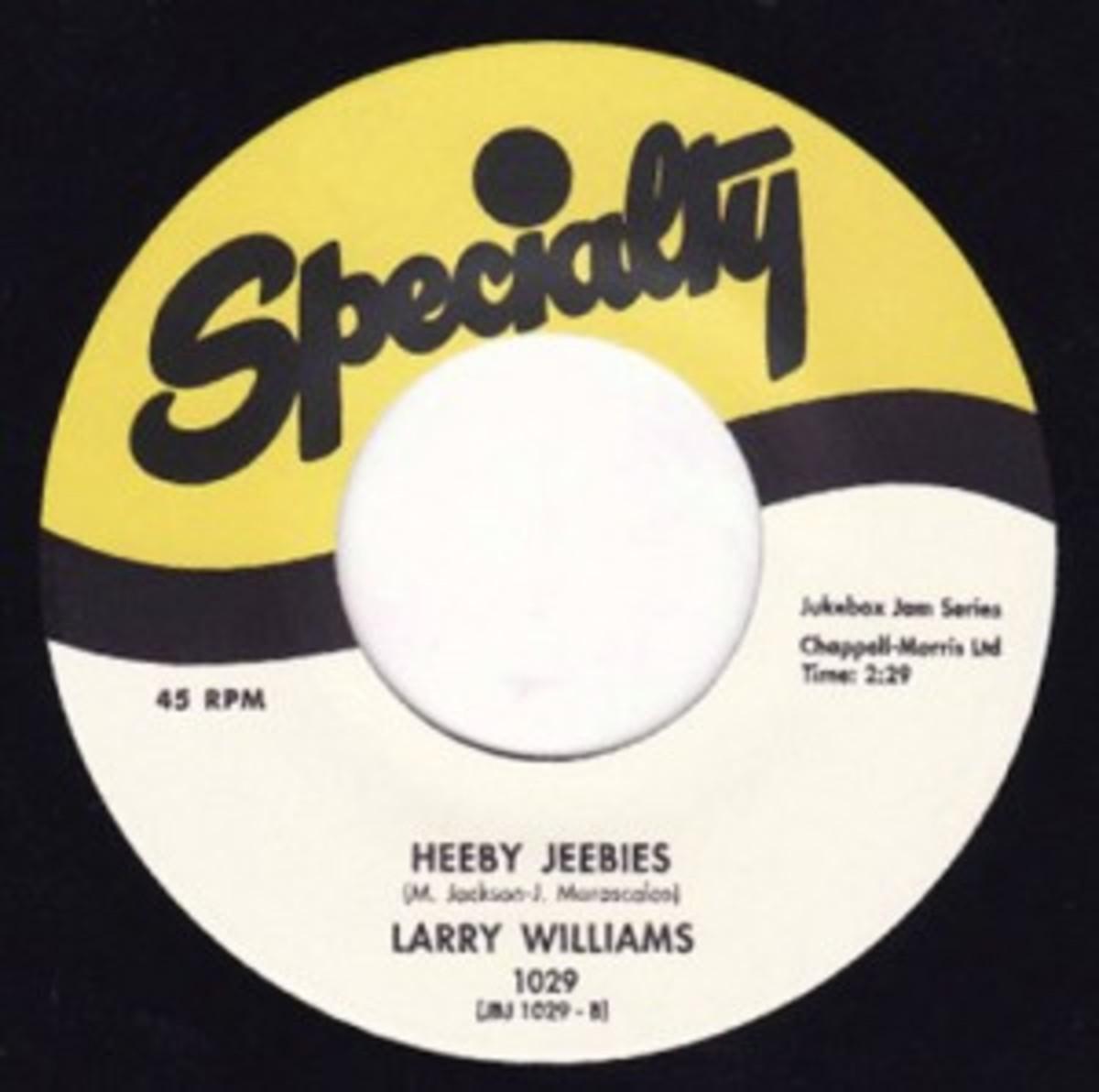 Larry Williams Heeby Jeebies Specialty