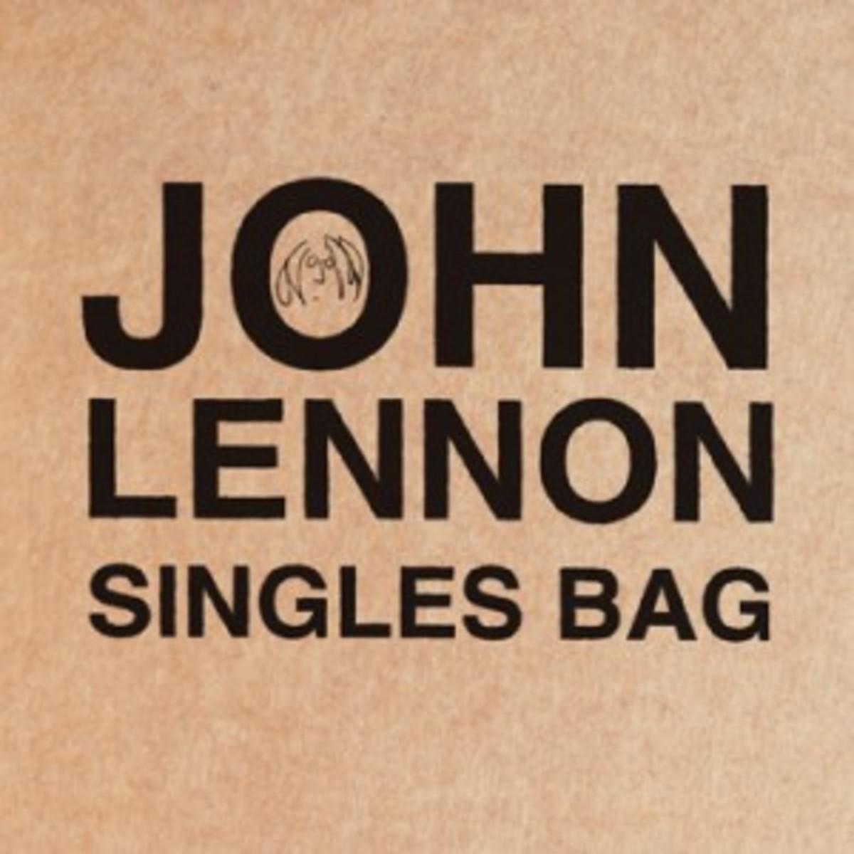 John Lennon Singles Bag - bag art