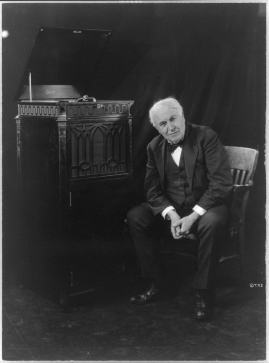 Thomas Edison phonograph 1921