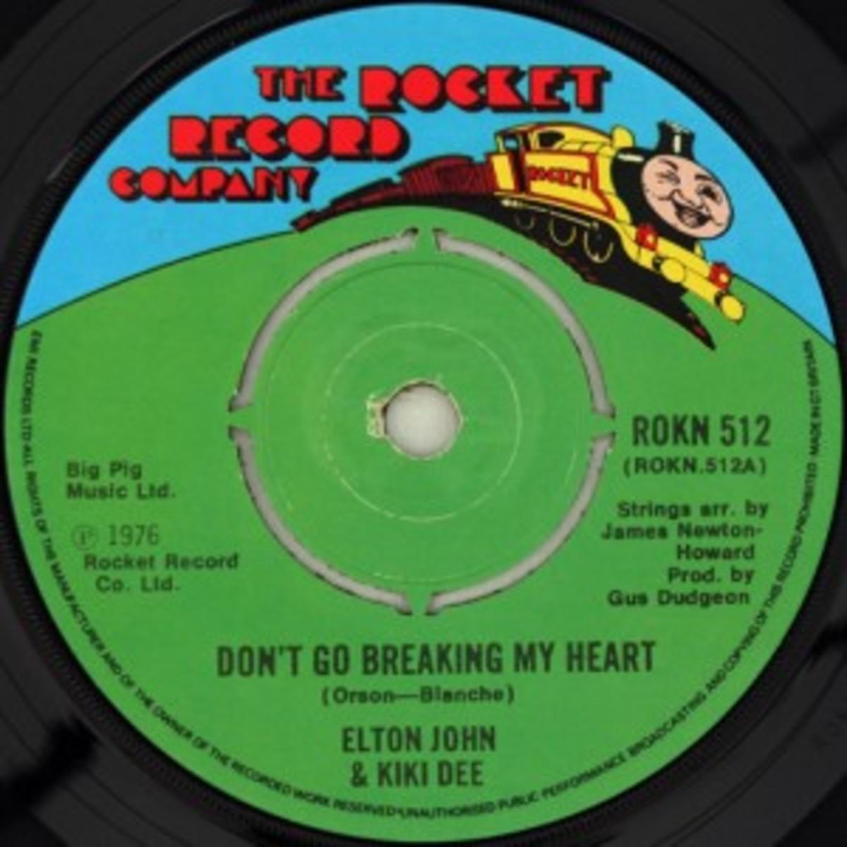 Don't Go Breaking My Heart Rocket Records Kiki Dee and Elton John