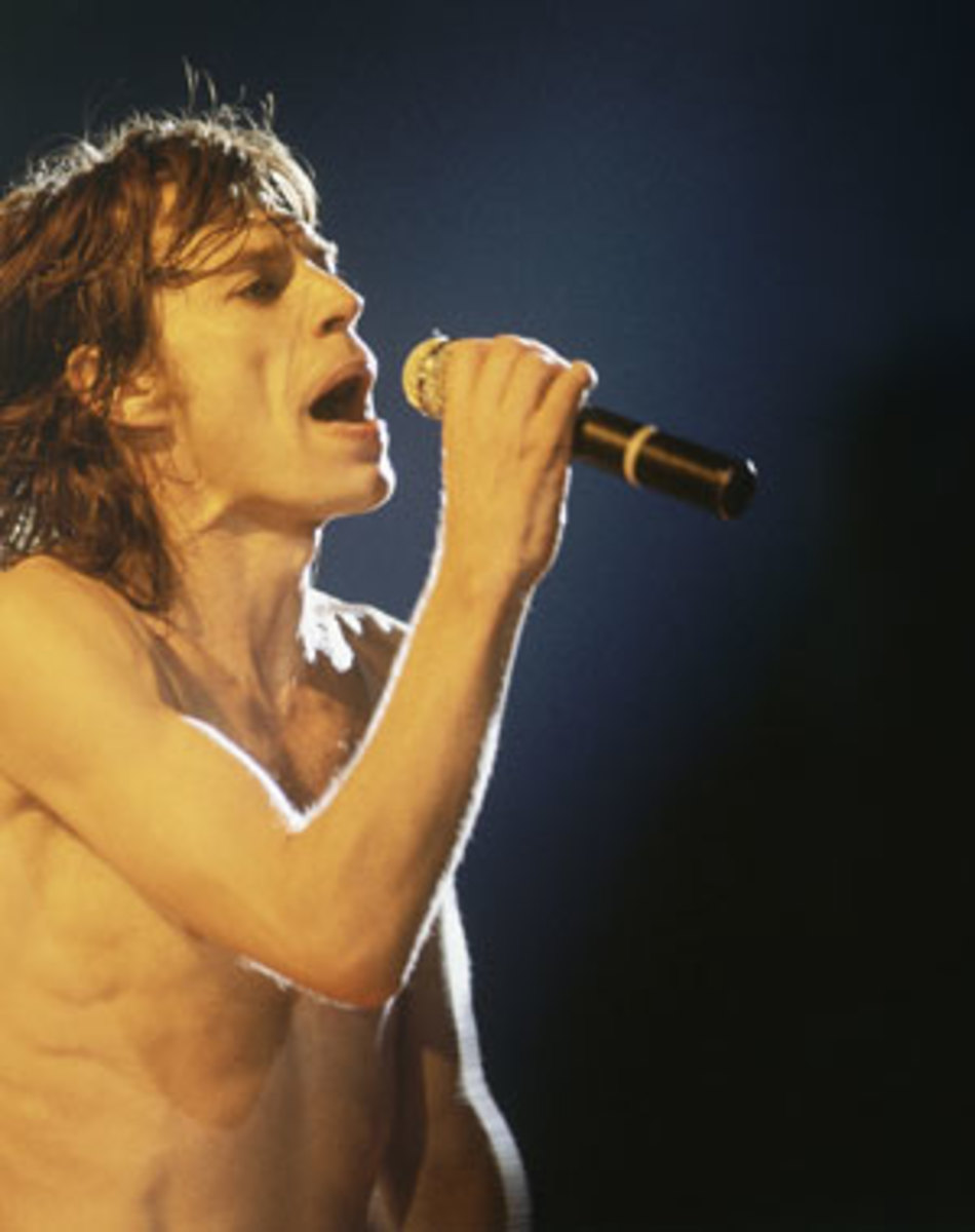 Mick Jagger onstage. AP photo