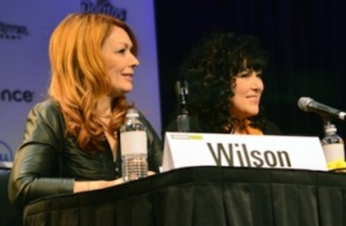 From left: Nancy and Ann Wilson of Heart (Photo by Chris M. Junior)