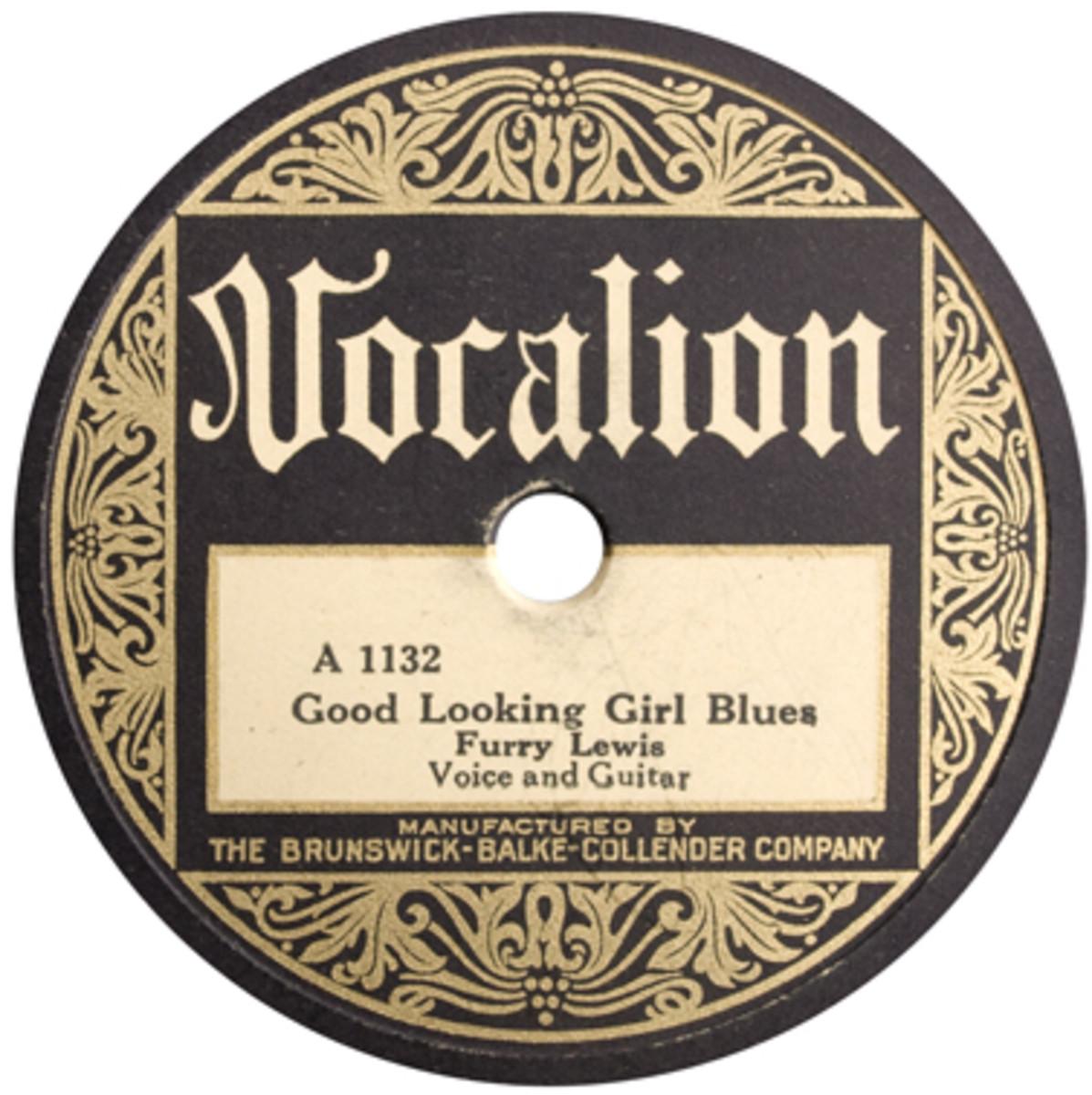 Furry_Lewis_Good_Lookin_Girl_Blues_Label