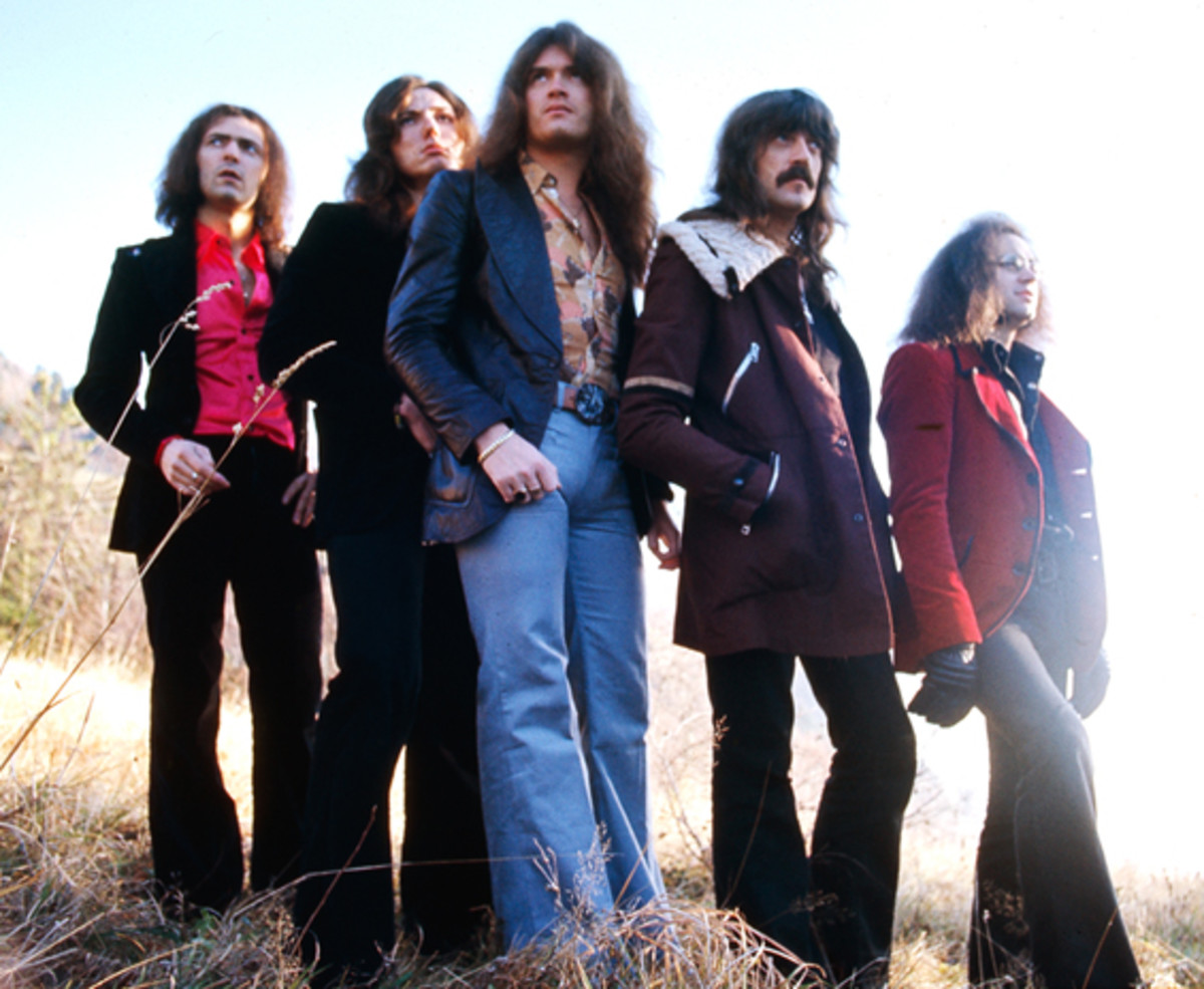 The Deep Purple Mark 3 lineup featured (from left) Ritchie Blackmore, David Coverdale, Glenn Hughes, Jon Lord and Ian Paice. Publicity photo.