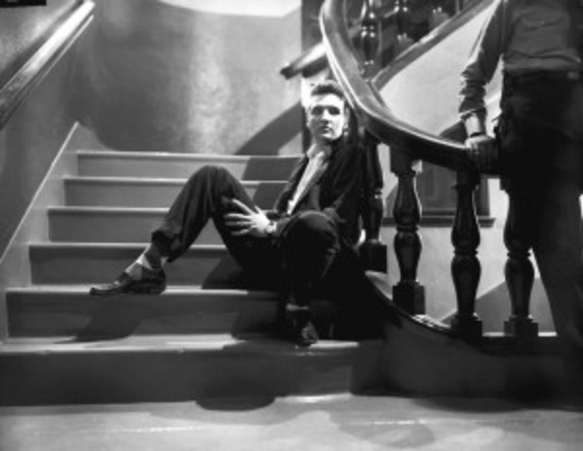 Elvis Presley backstage 1956