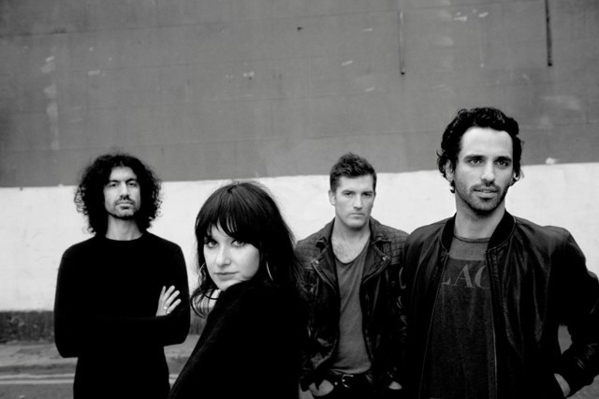 Howling Bells are (left to right) bassist Gary Daines, lead singer/rhythm guitarist Juanita Stein, drummer Glenn Moule, and lead guitarist Joel Stein. (Photo by Erik Weiss)