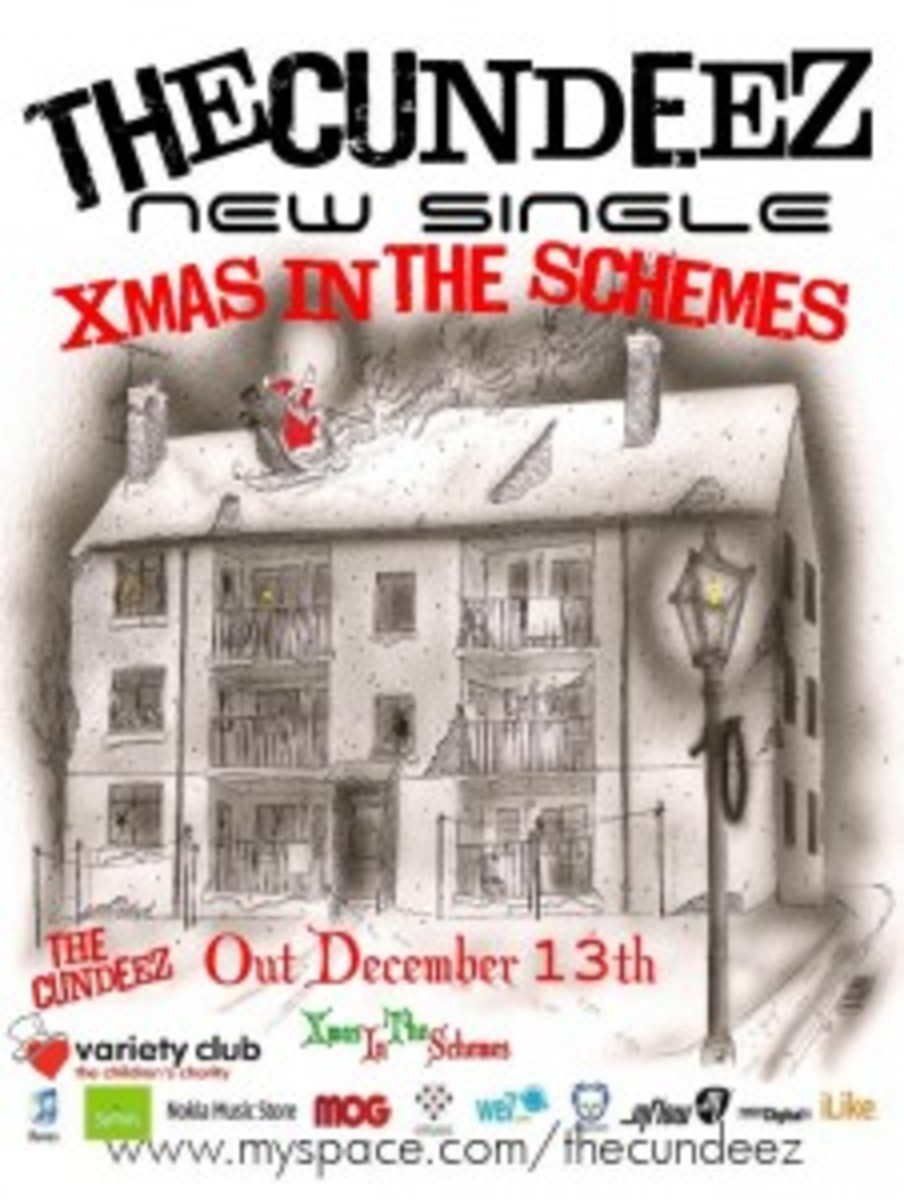 "Proceeds from the sale of The Cundeez' ""Xmas In The Schemes"" single are being donated to the children's charity Variety Club of Great Britain."