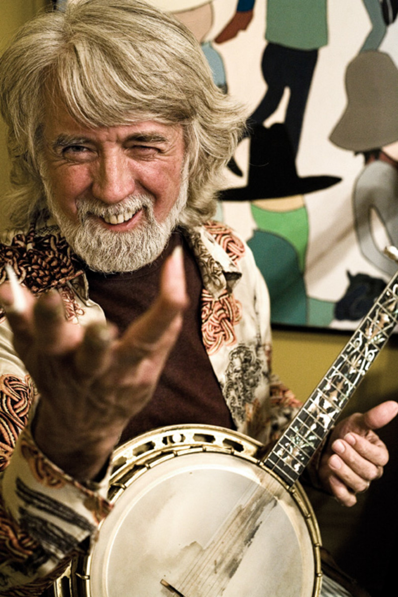 """If you're playing the """"6 Degrees"""" game for country rockers The Nitty Gritty Dirt Band, Steve Martin probably isn't even on your radar as a connection. But Martin and the Dirt Band's John McEuen (left) were high school buddies, and they both worked in Disneyland's Magic Shop. Both also play the banjo, and McEuen produced Martin's Grammy-winning album, """"The Crow: New Songs for the 5-String Banjo."""" Publicity photo."""