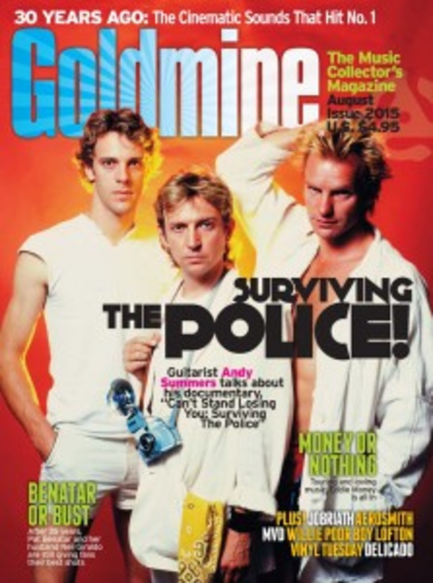 The August issue of Goldmine with Police cover story. Photo image by Robert Alford, circa 1983.