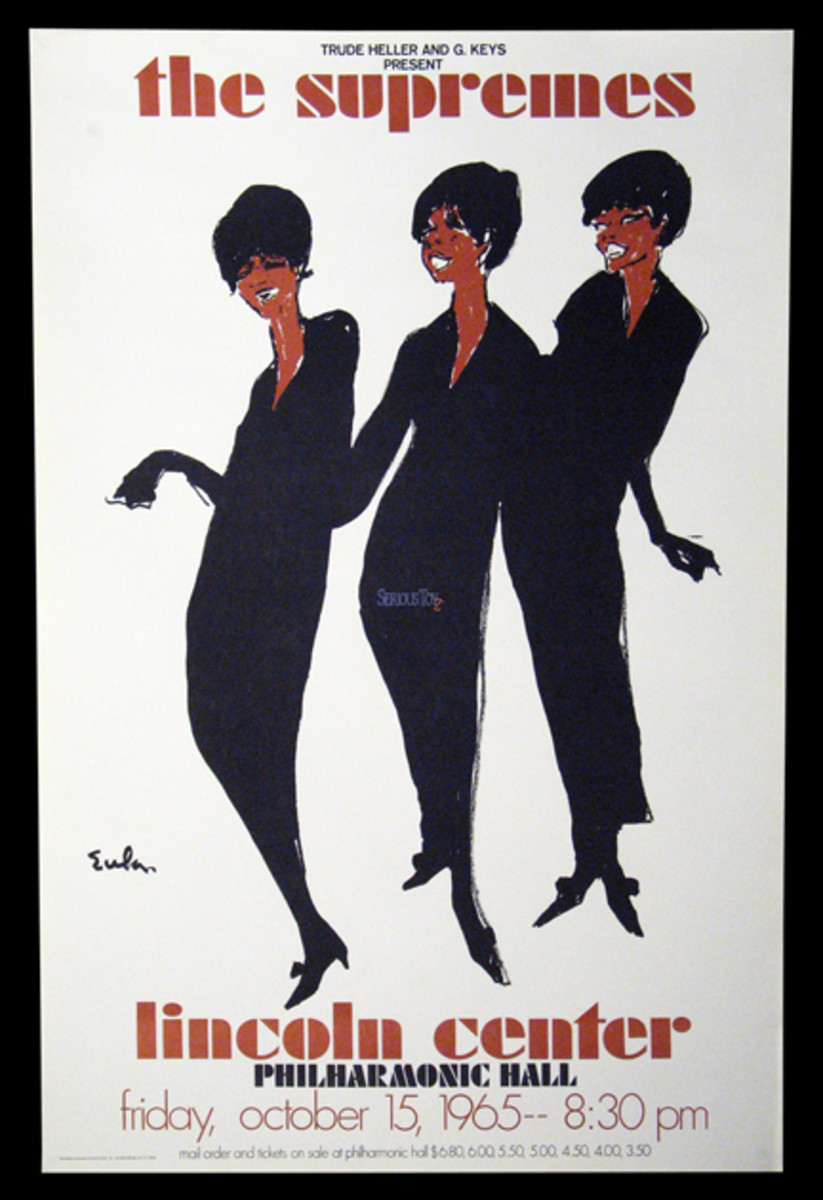 Supremes LIncoln Center concert poster