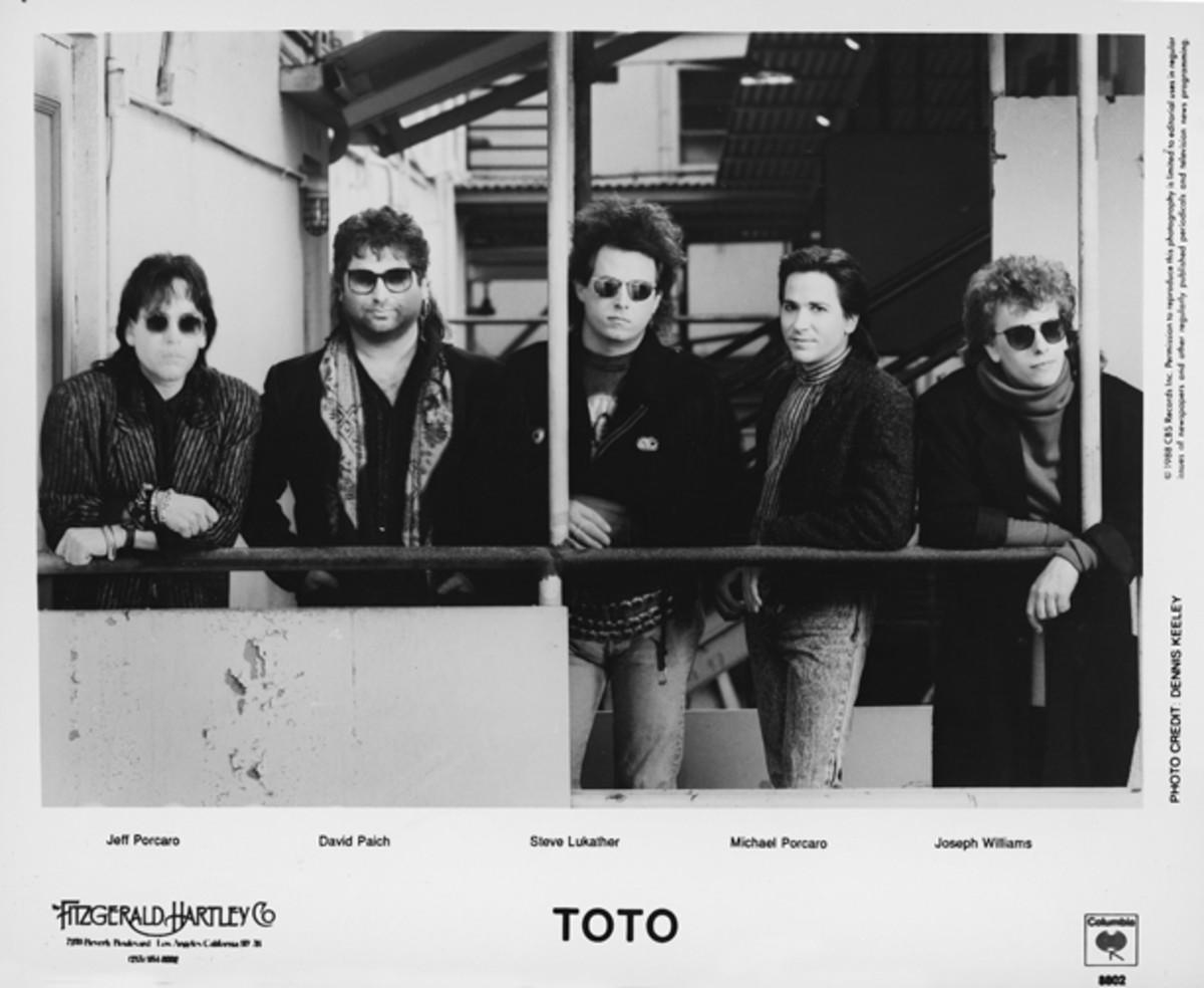 Toto 1988 Columbia Records publicity photo