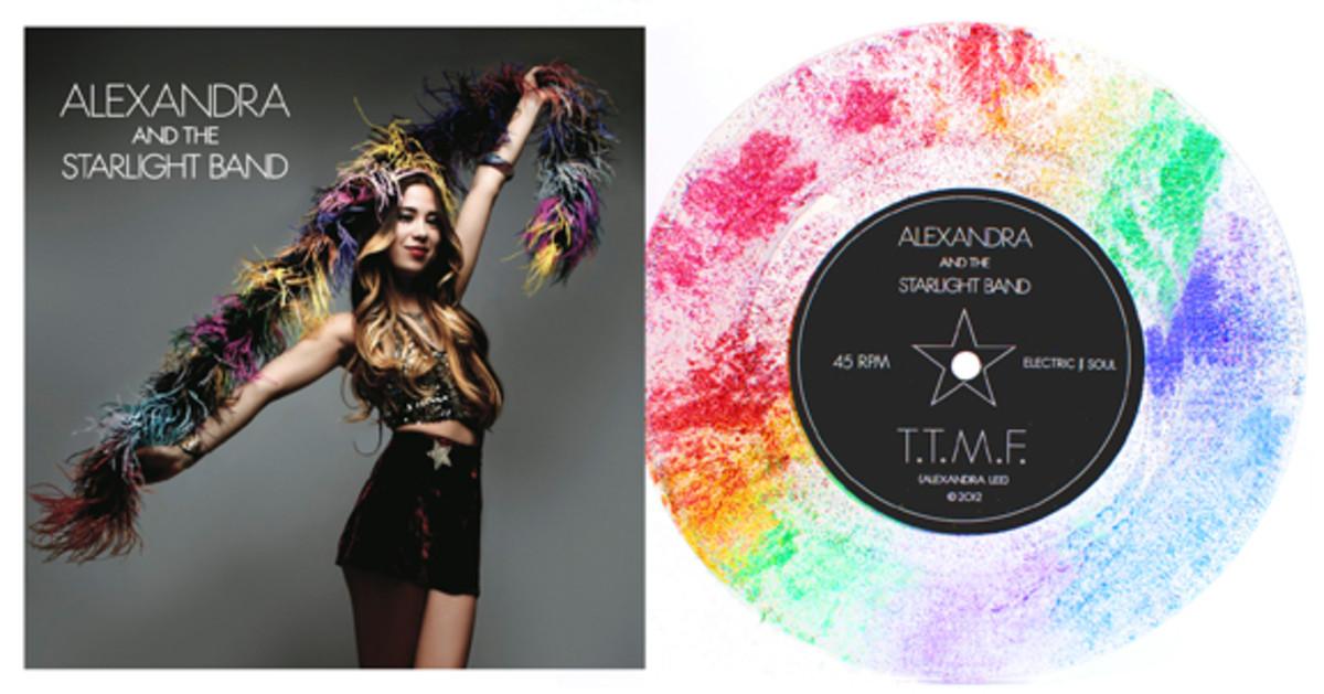 rainbow glitter vinyl record
