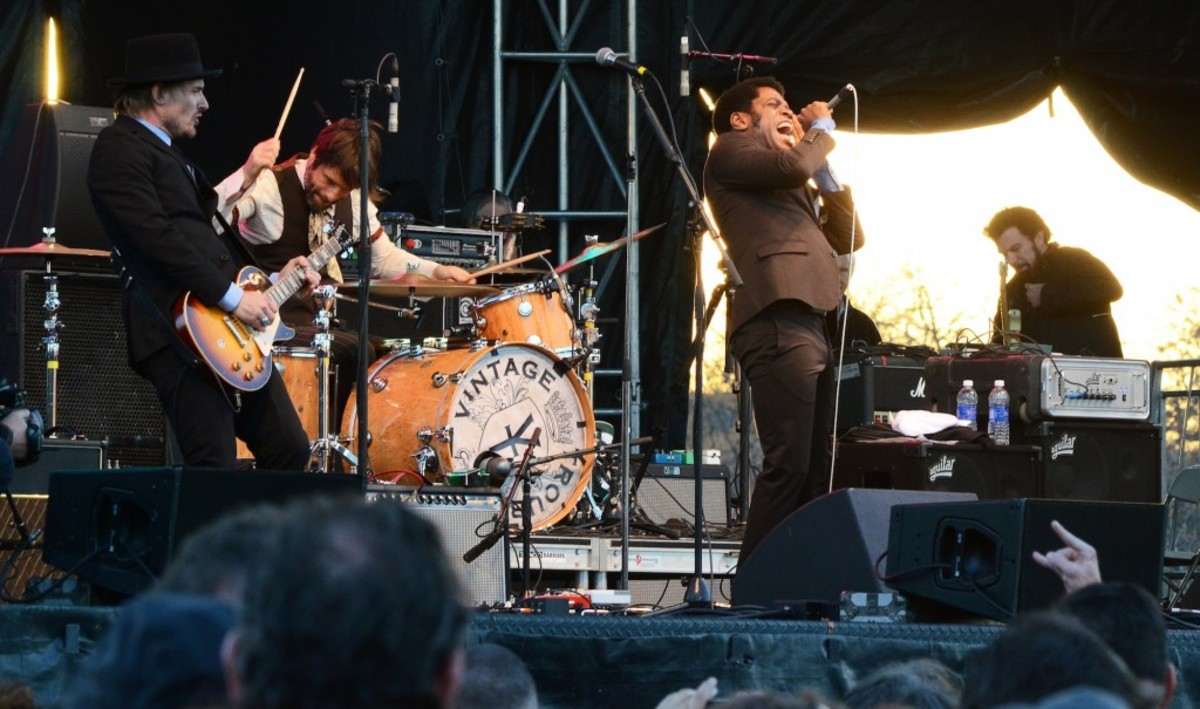 From left: Vintage Trouble's Nalle Colt, Richard Danielson and Ty Taylor (Photo by Chris M. Junior)