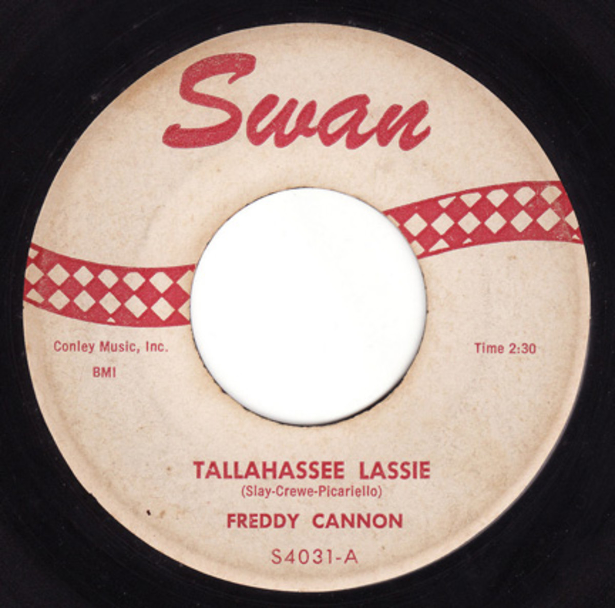 Freddy Cannon Tallahassee Lassie on Swan