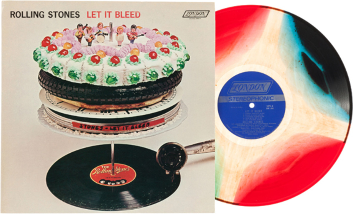 Rolling Stones Let It Bleed rare multicolored pressing