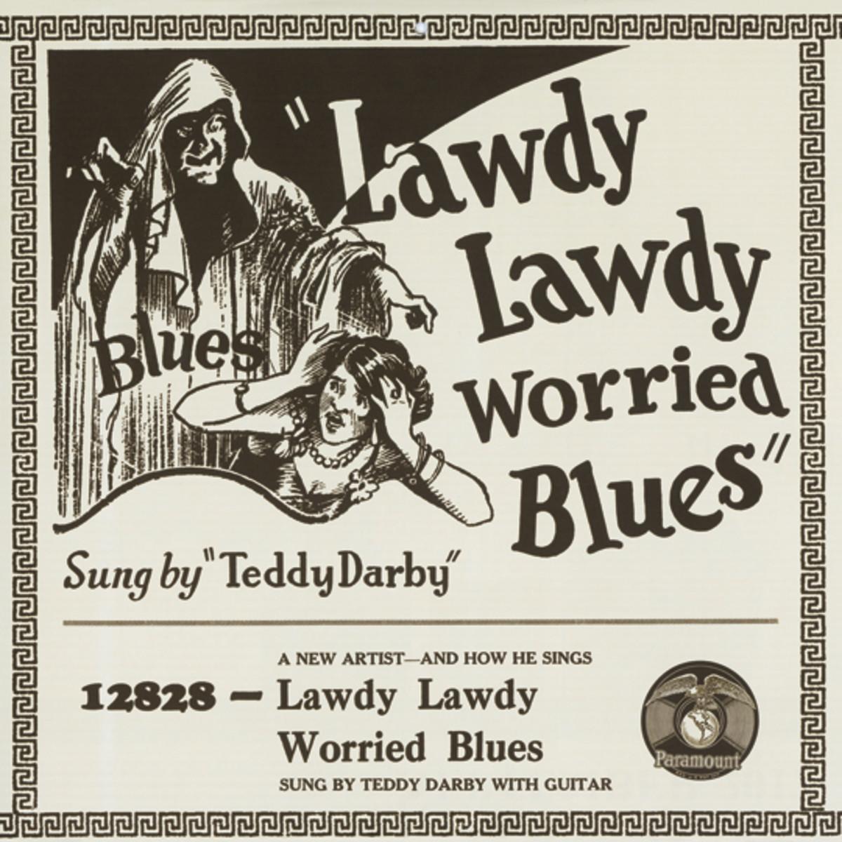 Blind Teddy Darby Lawdy Lawdy Worried Blues