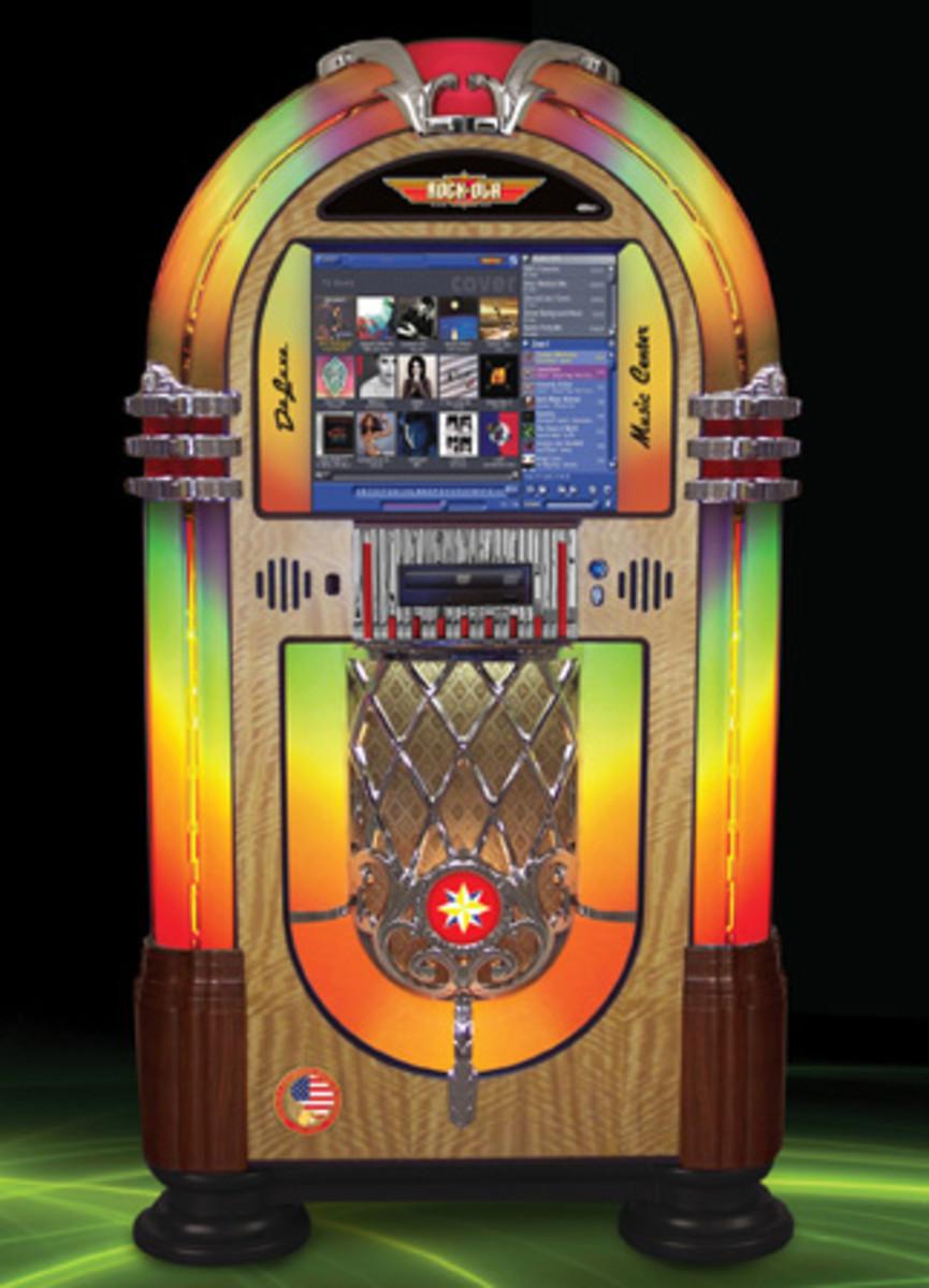 Rock-Ola's Bubbler Music Center jukebox. Photo courtesy of Rock-Ola