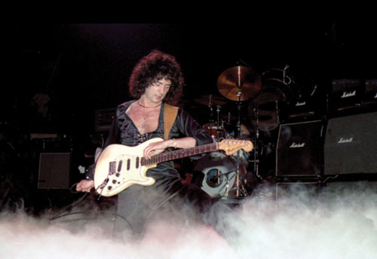 Ritchie Blackmore rocking out during his Rainbow days — June 19, 1982, at Madison Square Garden, New York, N.Y (Photo by Frank White)