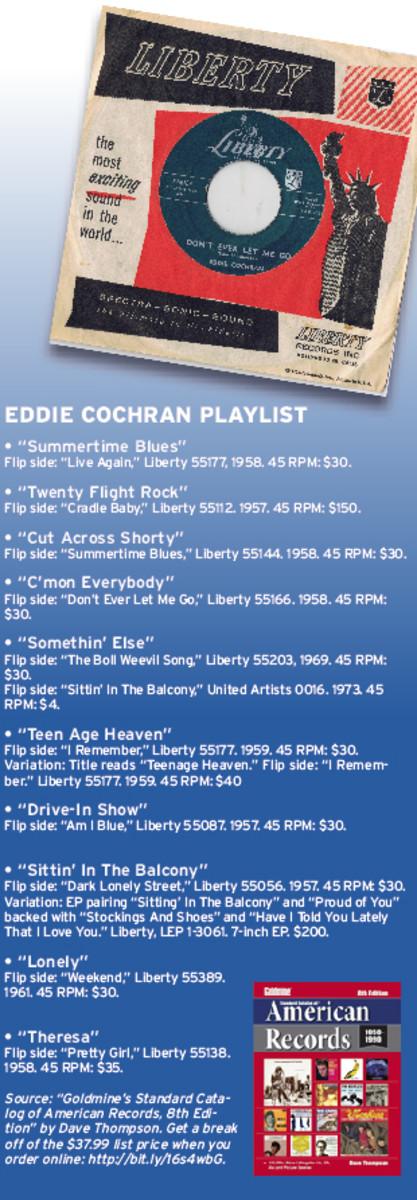 Eddie Cochran record values