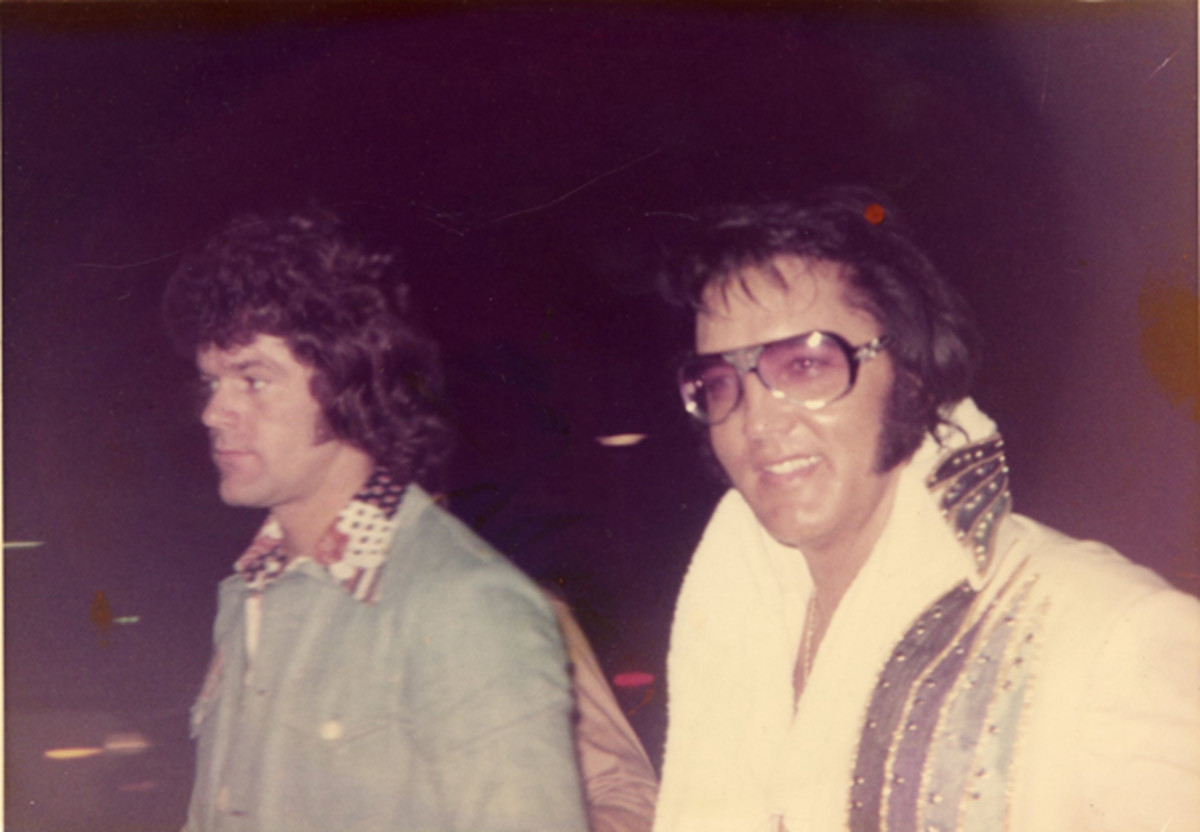 Jerry Schilling with Elvis. Photo courtesy of Jerry Schilling