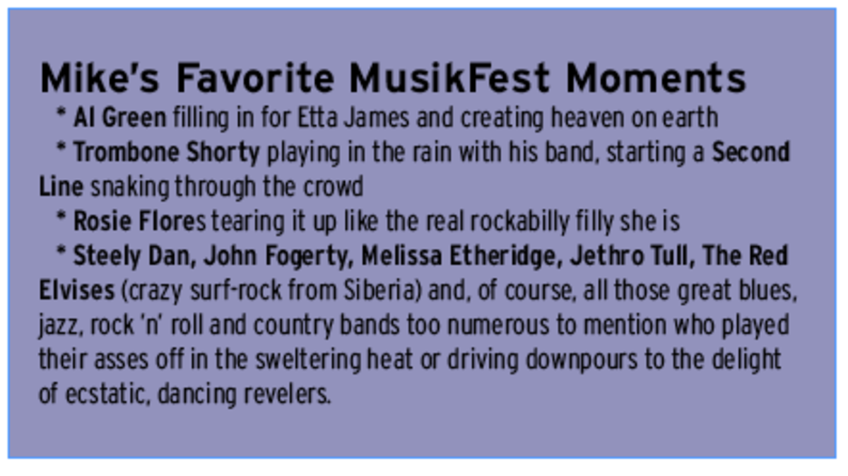 Mike's Favorite MusikFest Moments