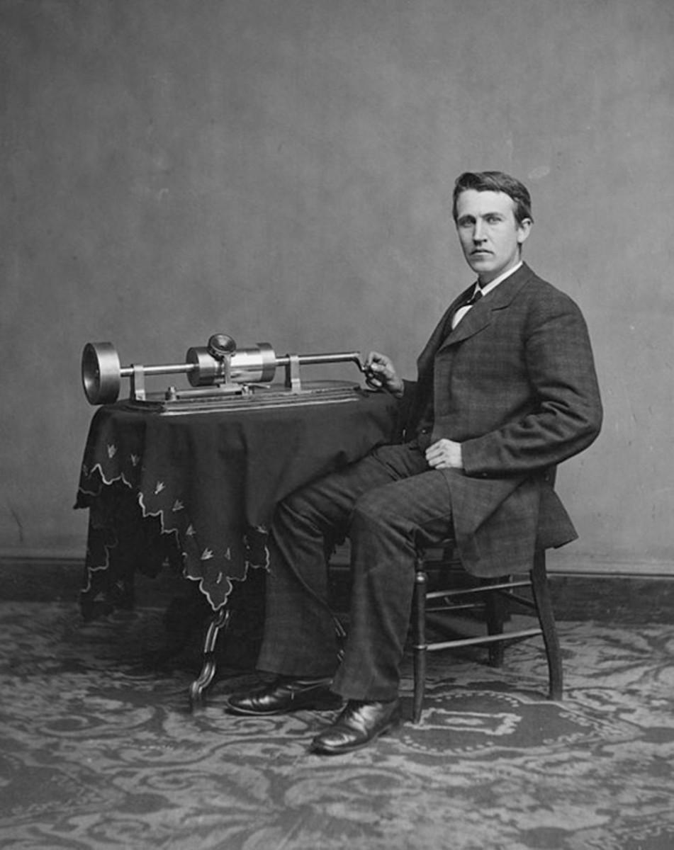 Thomas Edison phonograph 1878