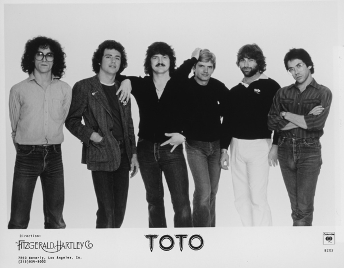 Toto band publicity photo 1982 Columbia