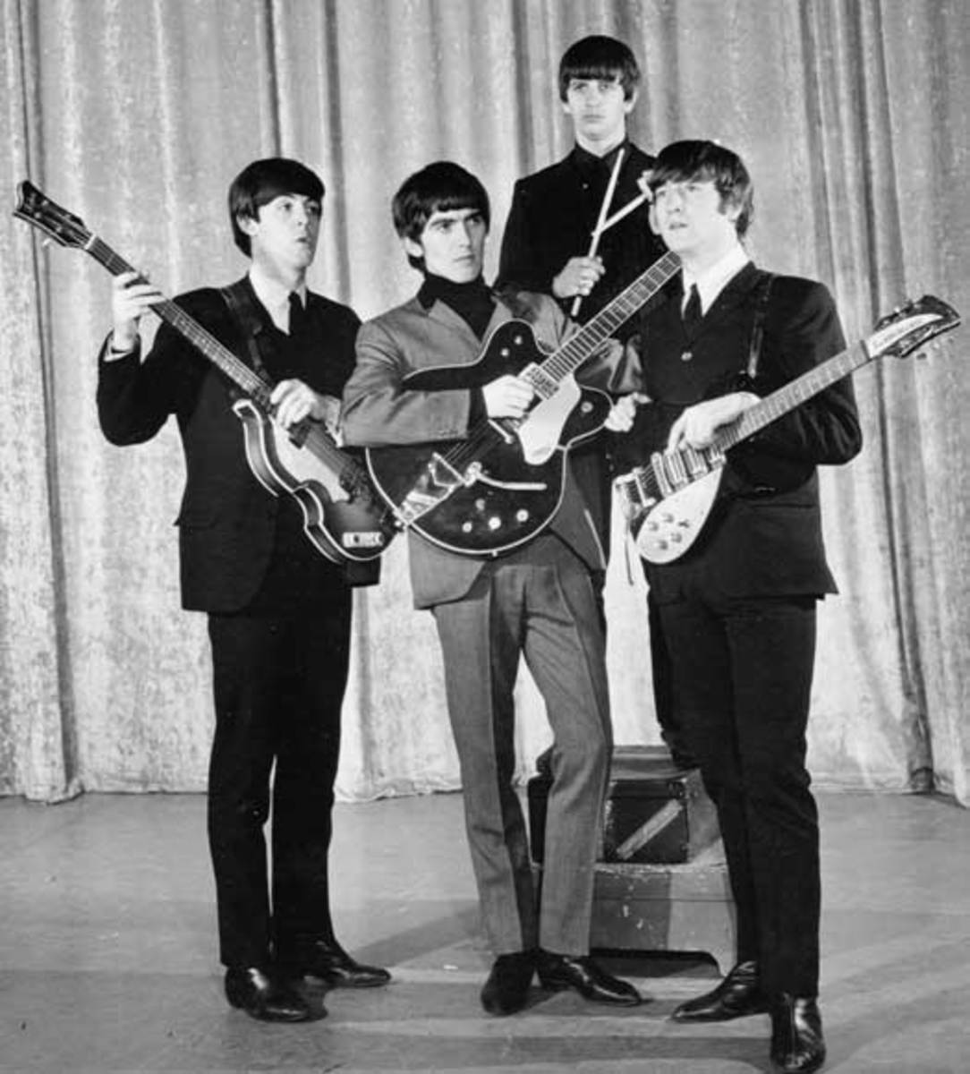MOP-TOP HAIRSTYLES at their height of popularity: The Beatles appear on 'The Ed Sullivan Show' in 1964. Photo courtesy Universal Music Group/Copyright CBS Photography 1964