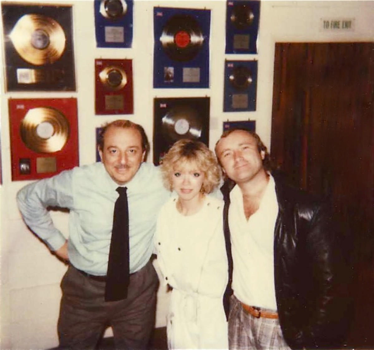 Arif Mardin, Marilyn Martin and Phil Collins. Photo courtesy of Marilyn Martin.