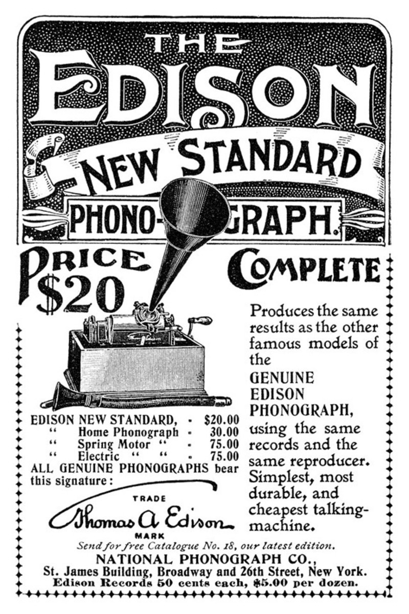 Edison New Standard Photograph advertisement