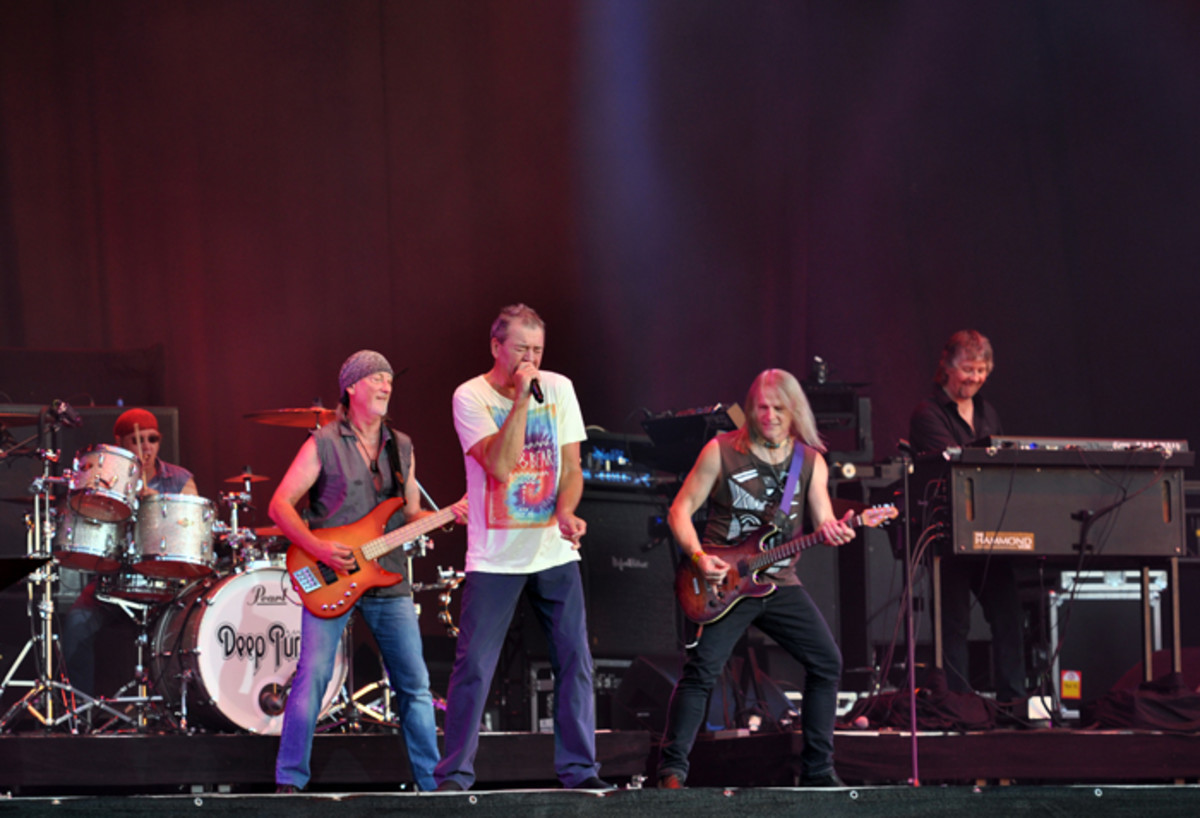 Deep Purple at Wacken Open Air Festival in northern Germany, 2013. Photo by Jonas Rogowski.
