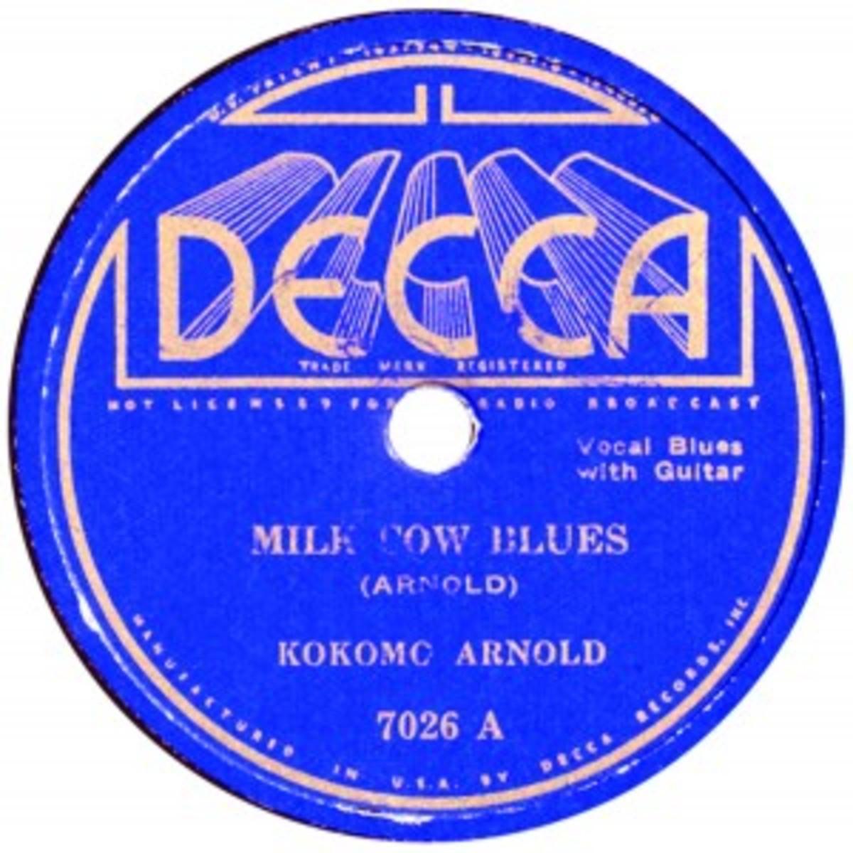 Kokomo Arnold Milk Cow Blues Decca 7026