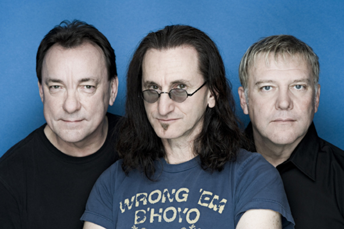 Rush Neil Peart Geddy Lee and Alex Lifeson by Andrew MacNaughtan