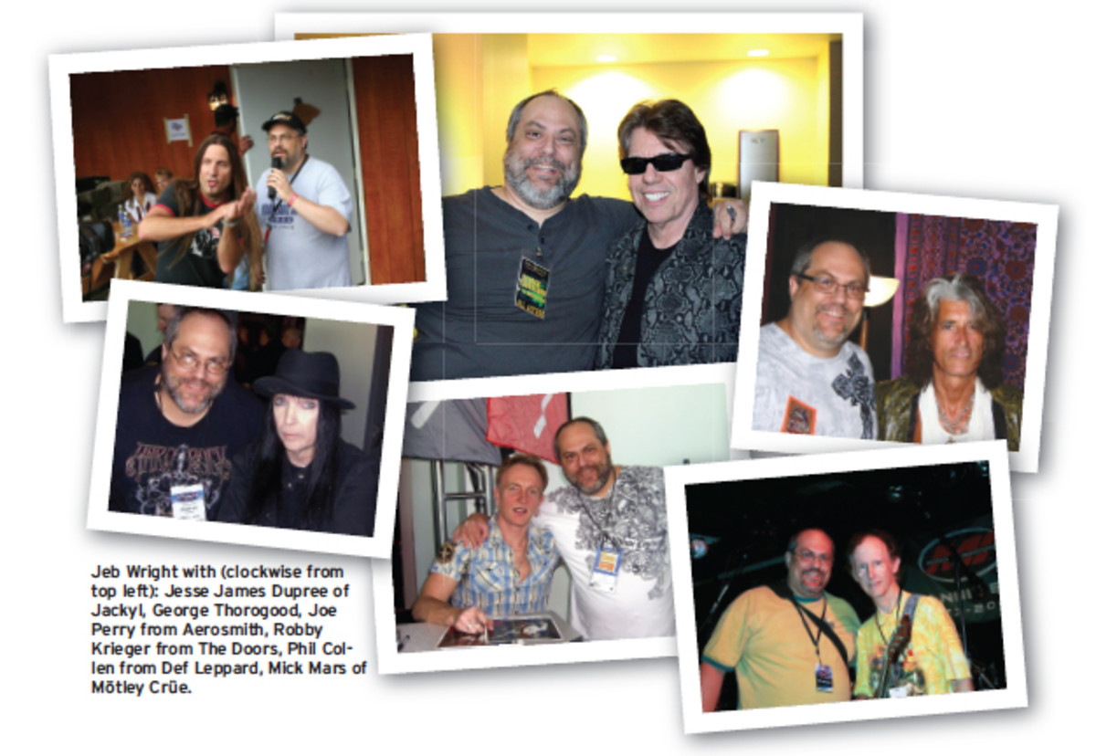 Jeb Wright , George Thorogood, Jesse James Dupree of Jackyl, Joe Perry of Aerosmith, Robby Krieger of The Doors, Phil Collen of Def Leppard and Mick Mars of Motley Crue