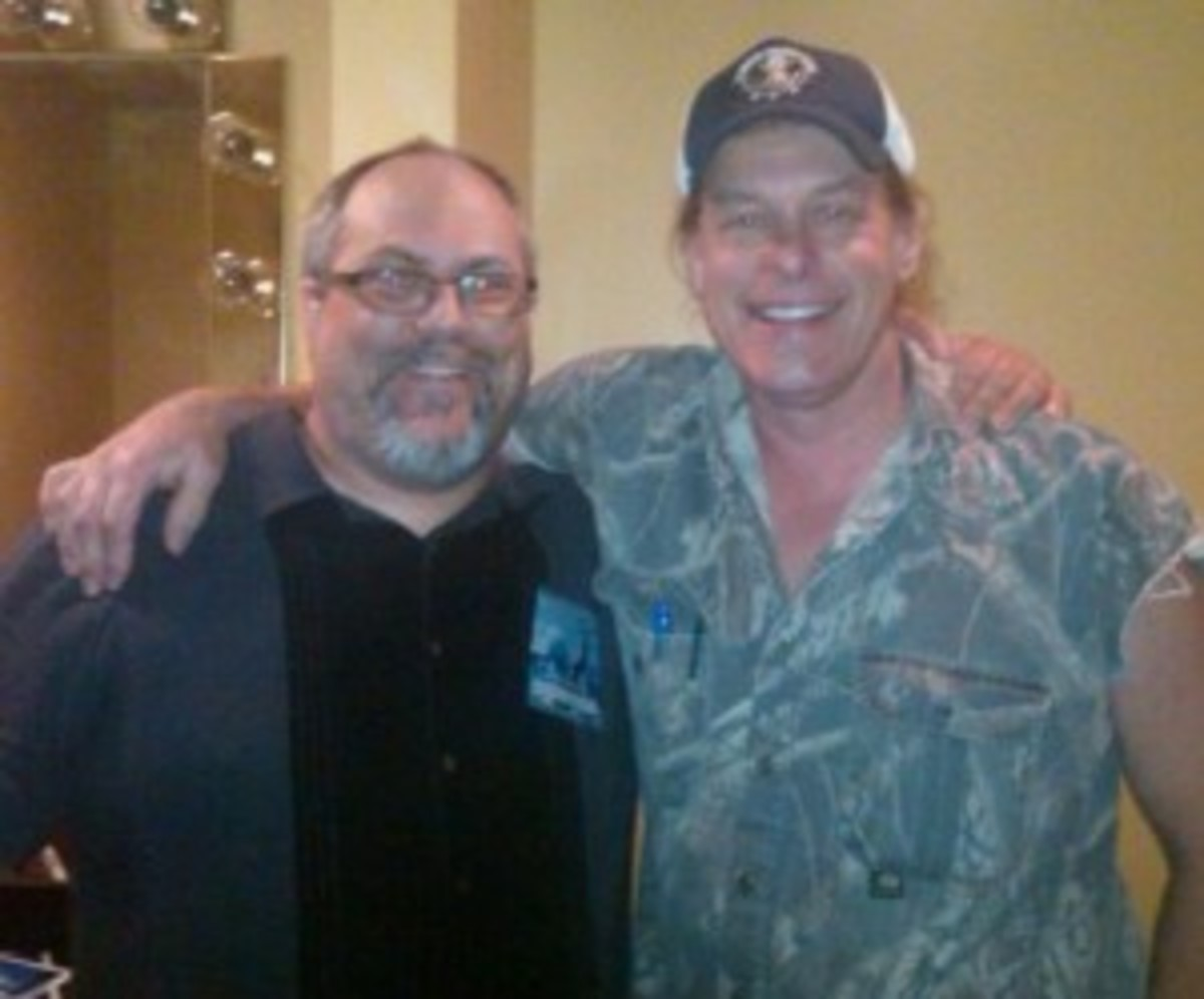 Jeb Wright with Ted Nugent