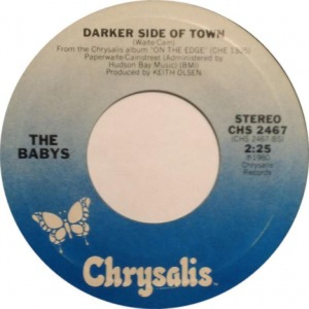 The Babys Darker Side of Town Chrysalis single