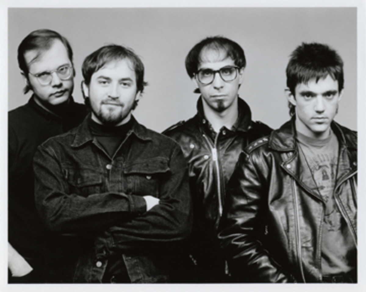 The Smithereens promo shot (Left to Right: Dennis Diken, Jim Babjak, Pat DiNizio and Mike Mesaros)