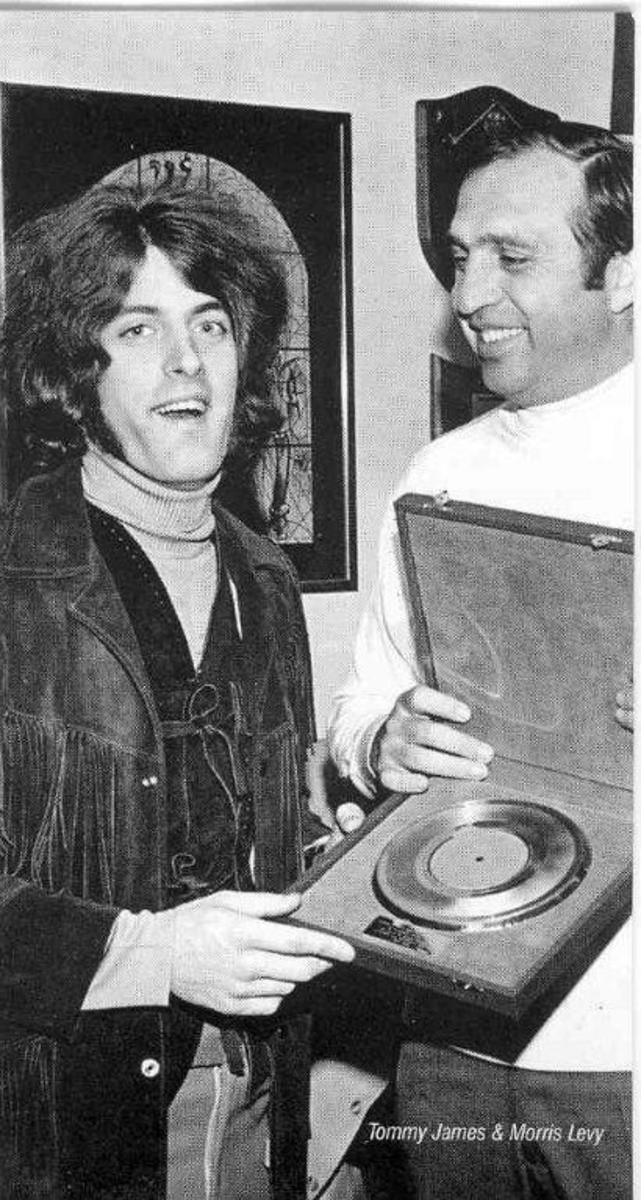 Tommy with Morris and 1969 Gold Record. Photo courtesy Tommy James