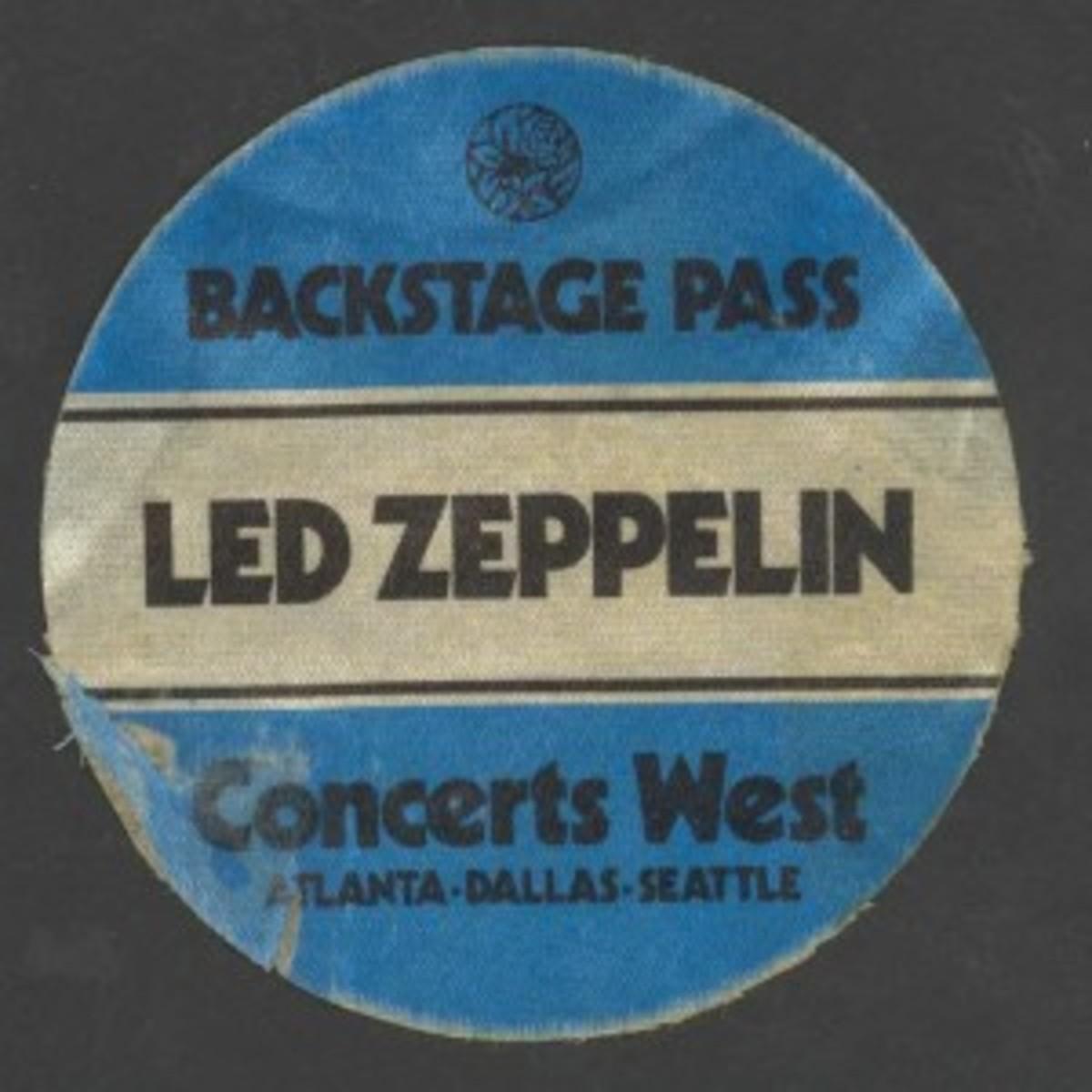 led zepp 1979 ribbon pass