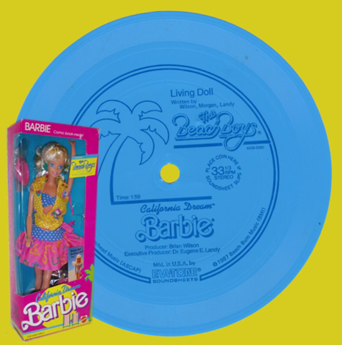 Eva-Tone's 1987 Living Doll flexidisc by Brian Wilson of The Beach Boys