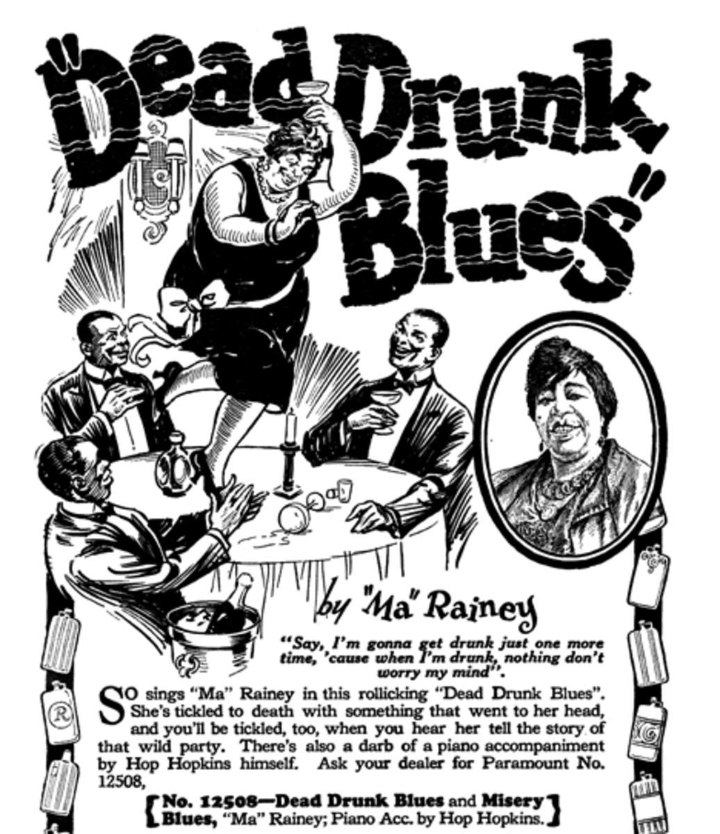 Gertrude 'Ma' Rainey Dead Drunk Blues advertisement