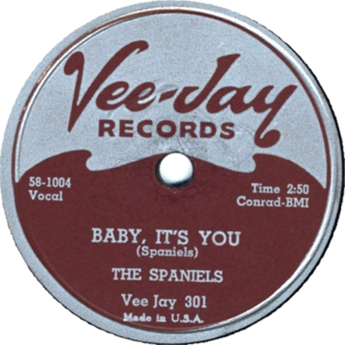 Spaniels Baby Its You on Vee Jay