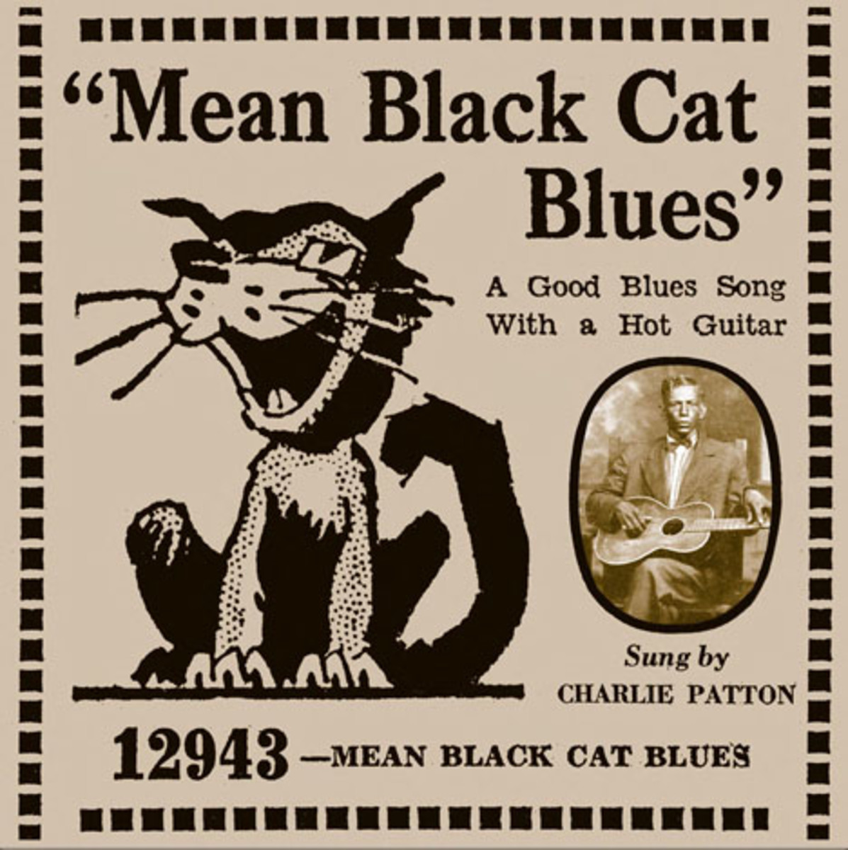 charley patton mean black cat blues paramount 12943