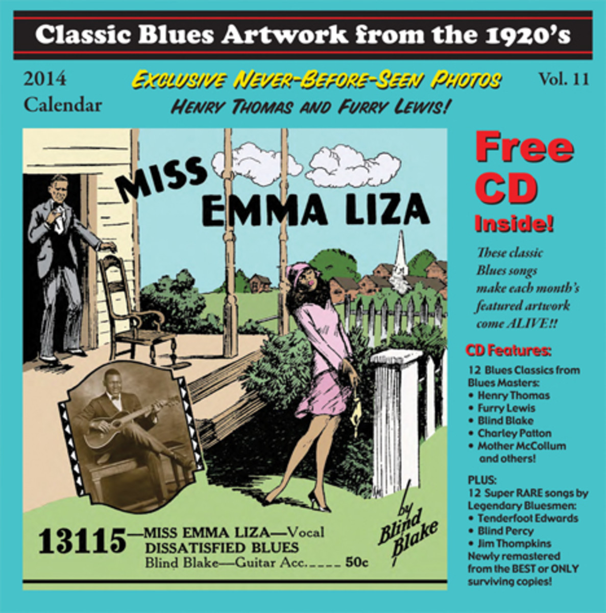 John Tefteller's 2014 blues calendar